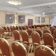 Ballroom set up for a conference Photo