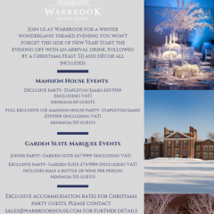 Warbrook House - Christmas Packages