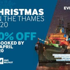 HMS Belfast - Christmas on the Thames 2020 - 10% discount