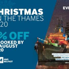 HMS Belfast - Christmas on the Thames 2020 - 5% discount